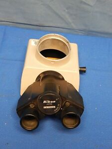 Nikon Trinocular Camera Mount Microscope Head For Optiphot Microscopes
