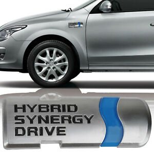 Us 3d Abs Hybrid Synergy Drive Car Emblem Badge Sticker Decal For Toyota Honda