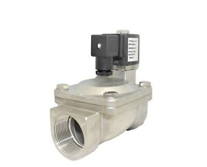1 1 2 Stainless Steel Solenoid Valve Electric Normally Closed Water Gas Air Ro