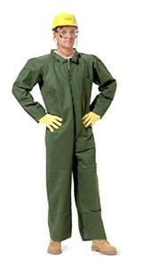 Nomex Limited Wear Coverall Flame Resistant Zipper Front Green Medium Each