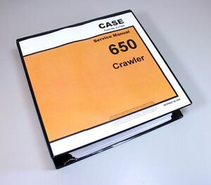 Case 650 Crawler Bull Dozer Service Technical Manual Repair Shop Book Binder