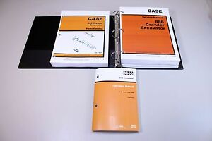 Case 888 Crawler Excavator Service Parts Operators Catalog Manuals In Binder