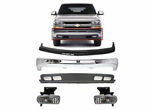 Replacement Front Bumper Combo 1999 2002 Silverado 2000 2006 Suburban Tahoe New