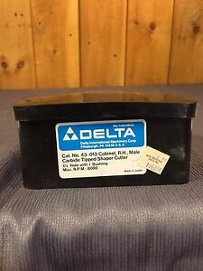 Delta Male Carbide Tipped Shaper Cutter 43 013