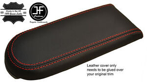Red Stitch Real Leather Armrest Lid Cover Fits Vw Golf Mk4 Jetta Gti 98 05