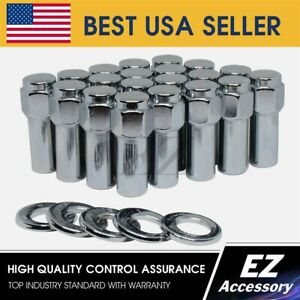 24 Pc Cragar Sst Mag Style Lug Nut 7 16 With Offset Washer