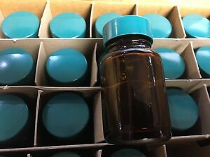 Vwr International Glass Bottles Amber Wide mouth 30cc With Cap 24 box 16180 207