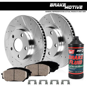 Front Drilled Slotted Brake Rotors Ceramic Pads 2006 2011 Honda Ridgeline