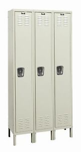 Hallowell Galvanite 1 Tier 3 Wide School Locker