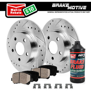 Rear Drilled Slotted Brake Rotors And Ceramic Pads Toyota Avalon Camry Solara