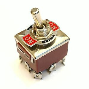 Us Stock 3pdt 3 Position 9 Screw Pin Terminals Toggle Switch Ac380v 10a E ten303