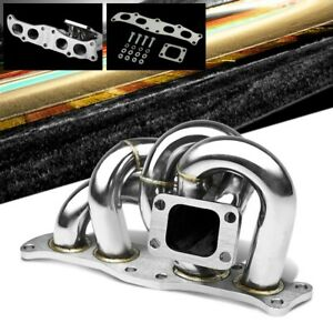 Race Ss Chrome T3 t4 Flange Turbo Manifold For 91 95 Mr2 3s ge 3s gte 2 0l Dohc