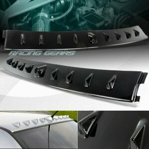 For Mitsubishi Lancer Evolution Evo Black Rear Roof Shark Fin Style Spoiler Wing