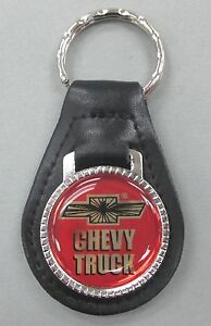 Chevrolet Chevy Truck Black Leather Silver Keyring 1930 1931 1932 1933 1934 1935