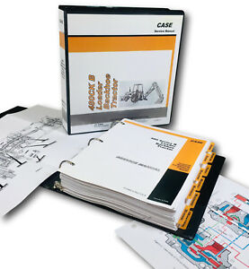 Case 480b 480ck Series B Tractor Loader Backhoe Service Manual In Binder