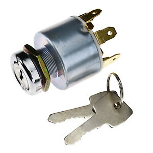 12v Ignition 4 Position Switch With 2 Keys Universal For Car Tractor Trailer