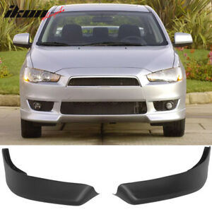 Fits 08 15 Mitsubishi Lancer Oe Style Front Bumper Lip Spoiler poly Propylene Pp