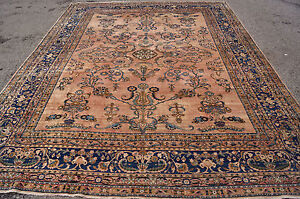 Antique Gorgeous Luxury Laver Kerman Rug 9x12ft