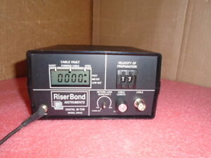 Riser Bond Riserbond Instruments Digital M tdr 2901c Powers Up Missing Knob