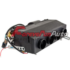 New Universal Underdash Ac Evaporator 4 Port 12v Heat Cool Black