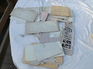 Vintage Printing Block letterpress Big Lot Paper 1 Time Use Weather Cartoons