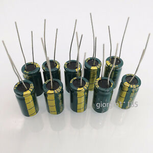 Us Stock 10pcs Electrolytic Capacitors 3300uf 3300mfd 10v 105 Radial 10 X 20mm