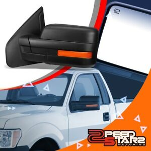 Left Driver Power Side Mirror Heated W O Signal Folded Arm For 04 14 Ford F 150