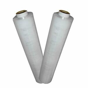 Strong Pallet Wrap Flush Core Clear 400mm 1 2kg Roll Stretch Shrink Non Extended