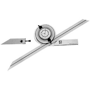 0 360 Range Universal Dial Protractor Set 4901 0001 new Ds