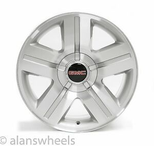 New Gmc Sierra Yukon Denali Silver Machined 20 Wheels Rims Free Shipping 5291