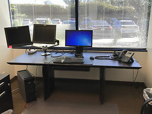 limited Edition Executive Office Desk With Credenza And Filing Cabinet