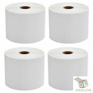 4 Rolls Direct Thermal Shipping Labels 500 roll 4x6 For Zebra Zp450 Eltron 2844