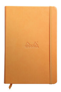 Rhodia Rhodiarama Webbies Notebook Orange Blank 96 Sheets 5 5 X 8 25