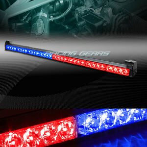 35 5 Red Blue Led Traffic Advisor Emergency Warn Flash Strobe Light Universal 9
