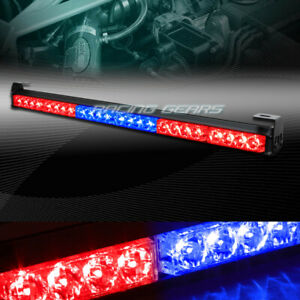 27 Led Red blue Traffic Advisor Emergency Warn Flash Strobe Light Universal 9