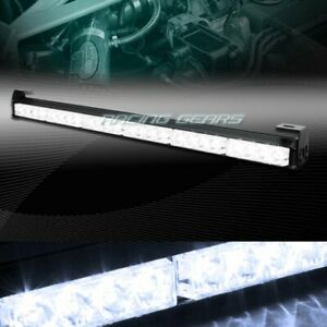 27 Led White Traffic Advisor Emergency Warn Flash Strobe Light Bar Universal 8