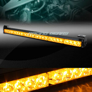 27 Led Amber Traffic Advisor Emergency Warning Flash Strobe Light Universal 1
