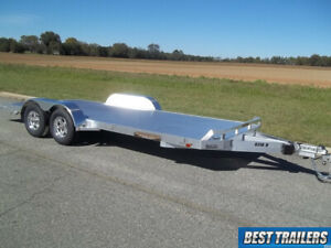 2018 Aluma 8218 B New Aluminum Equipment Carhauler Trailer W Dove Tail 7 X 18 Ft