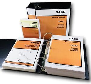 Case 780c Ck Tractor Loader Backhoe Service Parts Operators Manual Catalog Set