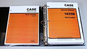 Service Manual Set Case 1835b Uni Loader Skid Steer Parts Catalog Workshop Shop