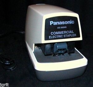 Panasonic As 300nn Commercial Electric Stapler Staple Gun Office As300nn Powered