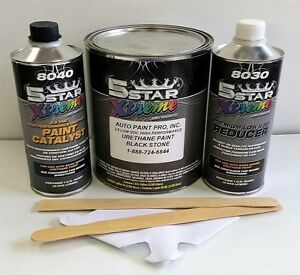5 Star Low Voc High Performance Black Stone Urethane Auto Paint Single Stage