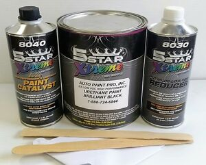 5 Star Low Voc High Performance Brilliant Black Urethane Auto Paint Single Stage