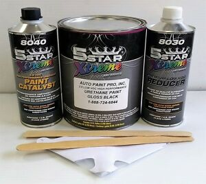 5 Star Low Voc High Performance Gloss Black Urethane Auto Paint Single Stage Car