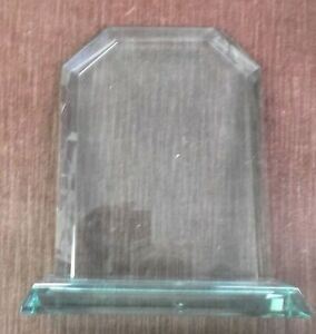 Trophy Parts Glass blank Plaque With Stand 5x7 Engraving Area