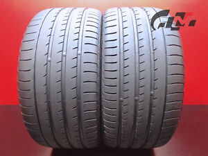 2 Hightread Yokohama Tires 295 35 21 Advansport V105 107y Oem Porsche 40316