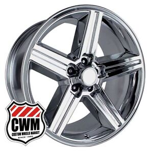 20 Inch 20x8 Iroc Z Chrome Oe Replica Wheels Rims For Chevy S10 2wd 1982 2005