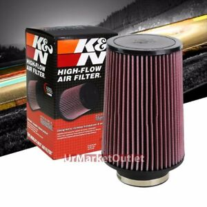 K N 4 102mm Universal Rubber Cotton Gauze Cone Round Tapered Air Filter Ru 5045