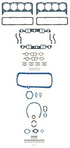 Fel Pro Sbc Gasket Set To 1974 W Perma Dry Oil Pan Valve Cover 260 1000at