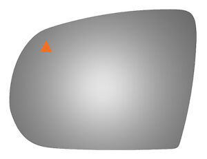Burco 5664b Left Side Mirror Glass W Blind Spot For 14 17 Jeep Cherokee